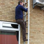 image of fixed escape ladder