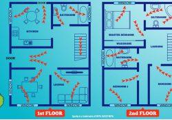 graphic showing escape plan