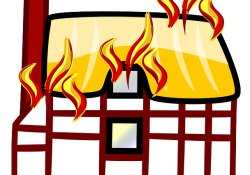 graphic of house on fire